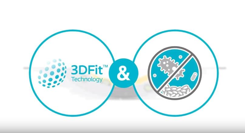 Entdecken Sie<br>Biatain® Silicone Ag mit der 3DFit Technologie®